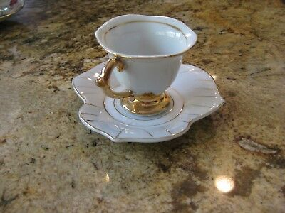 Fine Old Japanese Porcelain Tea Cup & Saucer Marked Made in Occupied Japan