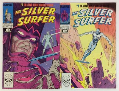 Silver Surfer #1 and #2 Complete limited series (Marvel 1988)
