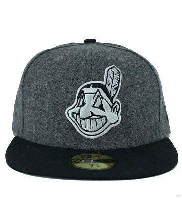 New Era MLB 59Fifty Cleveland Indians Authentic On Field Fitted Baseball Cap