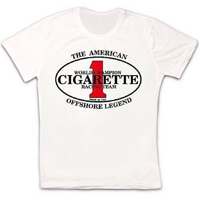 Cigarette Racing Team Speed Boats Powerboats Retro T Shirt 720
