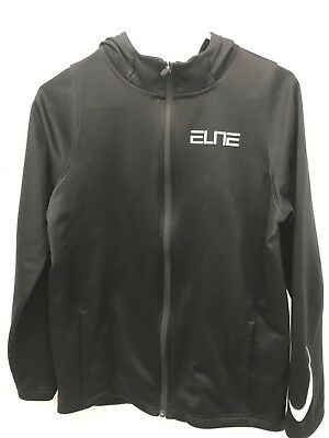 Nike Elite Therma-Fit Full Zip Up Hoodie Sweatshirt Boys Size Youth XL BLACK