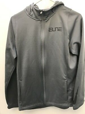 Nike Elite Therma-Fit Full Zip Up Hoodie Sweatshirt Boys Size Youth XL GRAY