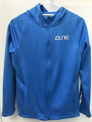 Nike Elite Therma-Fit Full Zip Up Hoodie Sweatshirt Boys Size Youth XL BLUE