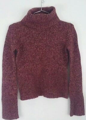 0c6ee6d34964d Expess Merino Wool Blend Sweater Pink Multi Color Turtleneck Small Ribbed  Size S