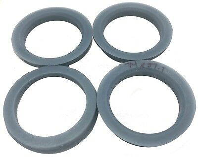 4 Pieces Polycarbonate Hub Centric Rings 74.1mm Wheel Bore to 72.56mm Factory Hub