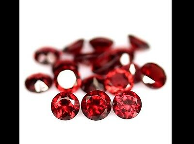 Magnifique lot de 17 GRENATS Pyropes Rouge  5.90 Carats !!!