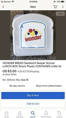 wonder bread sandwich container