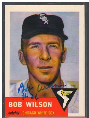 Bob Wilson Signed Autograph 1991 1953 Topps Archives Card #250 White Sox