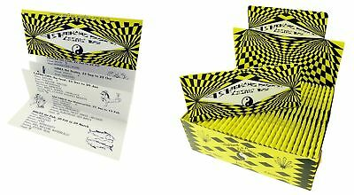 10 booklets Highland Yellow & Black Cosmic King-Size Rolling Papers