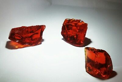 Lot of 3 - 33.8 Grams total weight of 3 Scarlett Shift Monatomic ANDARA Crystals