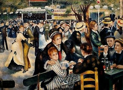 Garden Party,  36x48, Oil painting on Canvas, Reproduction of Renoir Painting