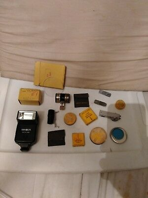 Vintage Mixed Miscellaneous Lot Of Camera Photography Parts Equipment