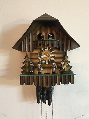 Oompah Band Musical Cuckoo Clock German Made