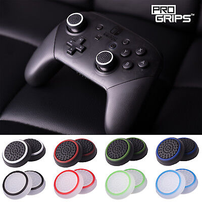 2 x Pro Grips™ Thumb Stick Cover Grips Caps For Nintendo Switch PRO Controller
