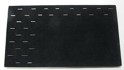 Black Velvet Foam Ring Insert 72 Staggered Slots Fits Standard Size Jewelry Tray