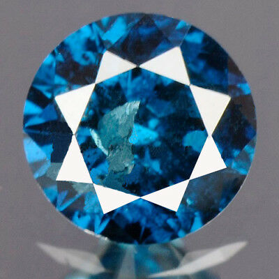 0.19 cts. CERTIFIED Round Cut Deep Royal Blue Color Loose Natural Diamond 12467