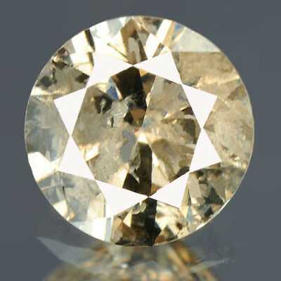 0.27 cts. CERTIFIED Round Brilliant Cut Light Brown Loose Natural Diamond 12422