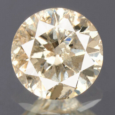 0.28 cts. CERTIFIED Round Sparkly Faint Brown Color Loose Natural Diamond 12402