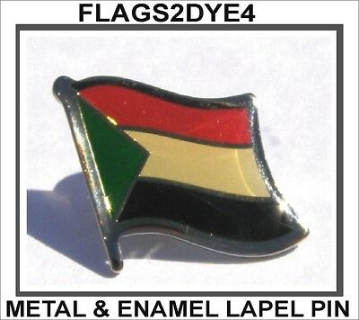 Sudan flag Sudanese lapel pin badge INCLUDES AUSTRALIA POST TRACKING