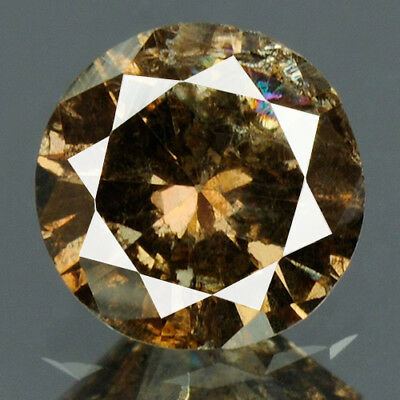 0.29 cts. CERTIFIED Round Vivid Coffee Brown Color Loose Natural Diamond 12222