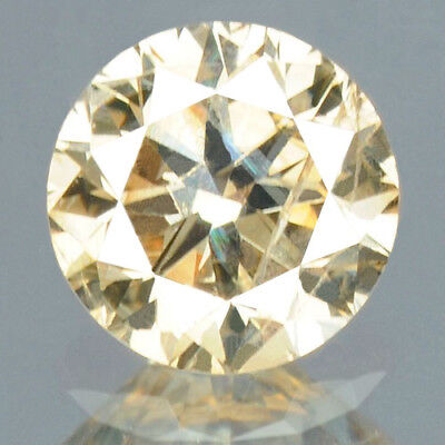 0.23 cts. CERTIFIED Round Sparkly Light Brown Color Loose Natural Diamond 12322