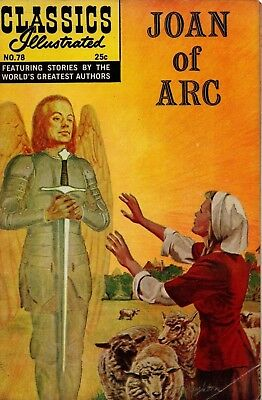 "Classic Illustrated "" Joan Of Arc'' Comic Book* Issue 78 , Winter 1969"