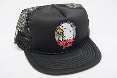 Vintage RIGHTEOUS RULER 1980's Harley Davidson Trucker Hat RARE *NEW OLD STOCK*