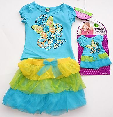 """NWT Dollie & Me Girl Outfit Set Top Skirt Matching 18"""" doll Clothes Sz. 6X 6"""