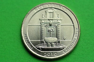 2010-D  BU Mint State (HOT SPRINGS) US National Park Quarter