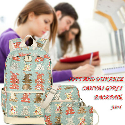 3 Pcs/Set Girl School Bags For Teenagers backpack women shoulder travel bags