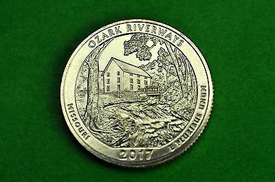 2017-D   BU  Mint State  ( Ozark Riverways) US National Park Quarter