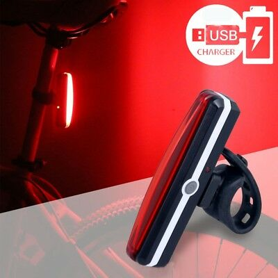 USB Rechargeable Smart Bike Tail Light Bicycle Safety Cycling Warning Rear Lamp