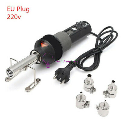 LCD Display Electronic 450W 220V Hot Air Heat Gun Soldering Station + Nozzles FR