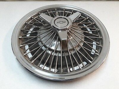 CHEVY ACCESSORY 14 Inch Wire Wheel Hub Cap Spinner Single Spare Impala J14749