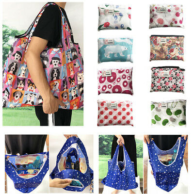 Waterproof Folding Reusable Eco Shopping Travel Shoulder Bag Pouch Tote Handbag