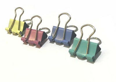 60pcs 15mm 1/2 in Colorful Metal Binder Clips File Paper Holder Office Supplies