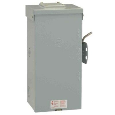 GE Emergency Power Manual Transfer Switch Non Fused Generator 100 Amp 240 Volt