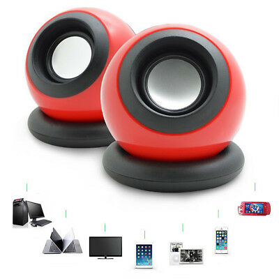 Portable USB Audio Music Player Computer Speaker For IPhone For IPad Laptop PC