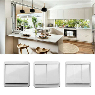 1/2/3Way WIFI Smart Wall Light Press Touch Switch Panel For Alexa Google Home