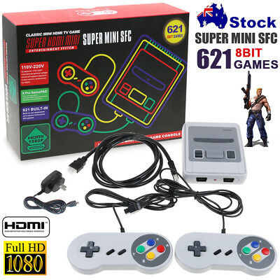 Super Nintendo Classic Mini Console Edition Built-in Preloaded 621 Games TV HDMI