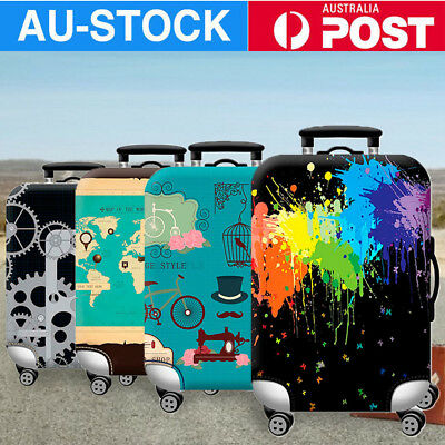 "18-32"" Tourism Theme Elastic Luggage Trolley Case Cover Cute Suitcase Protector"