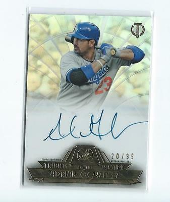 2014 Topps Tribute MLB Adrian Gonzalez Los Angeles Dodgers Auto #20/99