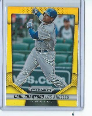 2014 Panini Prizm MLB Carl Crawford Los Angeles Dodgers Gold #06/10