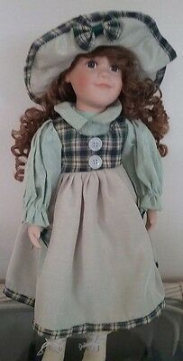 "Porcelain Doll ""The Dolls House Doll Collection"" 40cm tall"