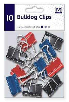 A Star School Stationery Office Stat Paper Bulldog Clips In Polybag Pack Of 10