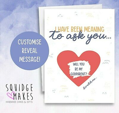 Will you be my Godparents Scratchcard - Godparents Card - Christening Card