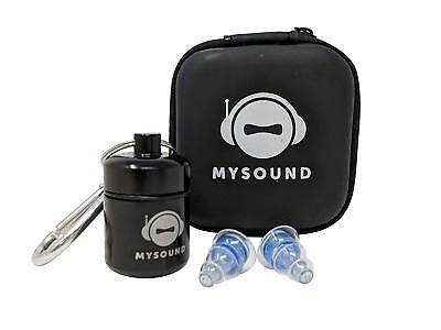 mySound Noise Cancelling Soft Protection Earplugs Reusable Concerts / Musicians