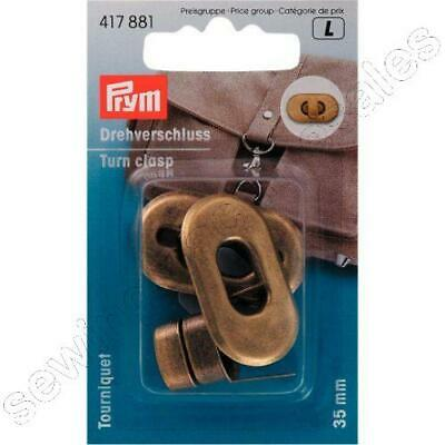Prym Turn Clasp for bags antique brass