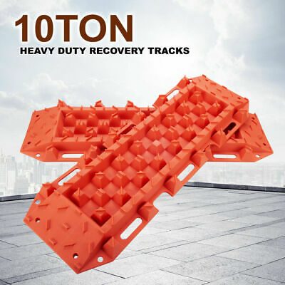 10T Orange Sand Recovery Tracks Off Road 4x4 4WD Car Snow Mud Track 10 Ton Pair