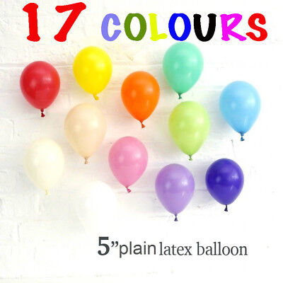 "5""inch Small Latex Balloons 25-100 Quality Standard balloon 17 Colour balloon"